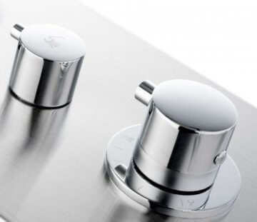 Luxus XXL Edelstahl Duschpaneel mit 6 Hydro Massagejets & Wasserfall -