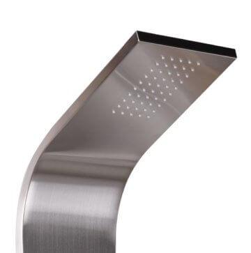 wohnling edelstahl duschpaneel mit brausekopf produktvorstellung. Black Bedroom Furniture Sets. Home Design Ideas